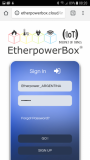 EtherpowerBox Plus_Mobile Web Interface 1